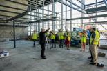 Visita d'obres a la nova plaça mercat