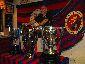 Assemblea de socis de la Penya Barcelonista d'Olot i Comarca amb la presència de les tres copes guanyades pel primer equip del F.C.B.