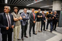 Inauguració del perllongament dels FGC a Terrassa