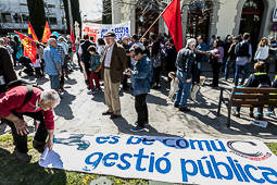 Manifestació per la gestió pública de l'aigua