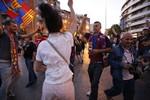 Terrassa surt al carrer per celebrar la 23 Lliga del Barça
