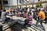 Municipals 2015: Roda de premsa Matilla i Albert a Terrassa