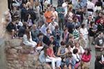Actuació dels Minyons de Terrassa a la Seu d'Ègara