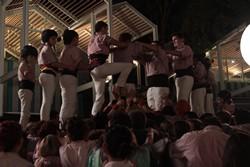 Actuació de Minyons a l'illa de Sentosa (Singapur)