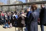 Inauguració a Terrassa d'una  placa dedicada a Vicenç Ferrer