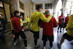 El Terrassa FC entrena al Raval