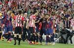 Xavi celebrant la Copa del Rei