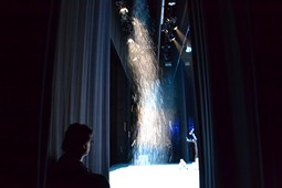 Els Pastorets del Social, vistos des de dins <p>La màquina de neu en ple funcionament sota l'atenta mirada del Carles Massallé.</p>