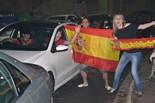 Celebració de la victòria d'Espanya a l'Eurocopa 2012