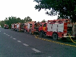 Intervenció a l'incendi de Manresa