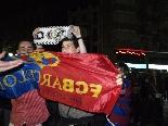 Celebració victòria del Barça a Madrid 2009-10