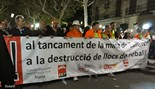 Manifestació en defensa de les mines a Manresa