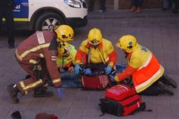 Simulacre d'accident a Berga - Conductàlia 2015