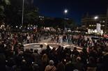 Protesta a Plaça Catalunya en motiu dels 10 anys de guerra i ocupació a l'Iraq