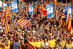 Acte central d'Ara és l'hora a plaça Catalunya