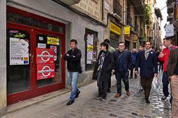 Les fotografies del 9-N Observadors internacionals a Vic (Osona). Foto Josep M. Montaner