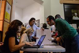Les fotografies del 9-N Votants a Barcelona. Foto: Marina Bou