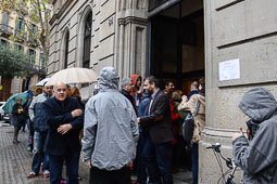 Les fotografies del 9-N Cues per votar a Barcelona. Foto: Marina Bou