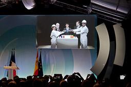 Rajoy i Valls inauguren la interconnexió elèctrica