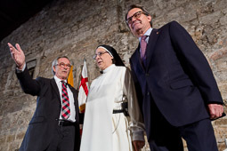 Municipals 2015: conversa entre Xavier Trias, Artur Mas i sor Lucía Caram