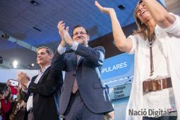 Municipals 2015 a Barcelona Mariano Rajoy a l'acte central del PP. </br>Foto: José M. Gutiérrez