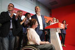 Municipals 2015 a Barcelona Jaume Collboni valorant els resultats. .</br>Foto: Sergi Cámara