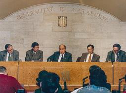 El vell àlbum d'imatges dels temps feliços de Convergència i Unió Presentació a la sala de premsa del Palau de la Generalitat.