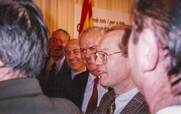 El vell àlbum d'imatges dels temps feliços de Convergència i Unió Xicoy, Duran, Subirà i Alegre, la nit electoral de 1992.