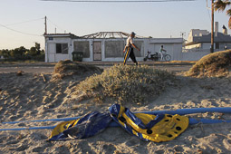 Arribada dels refugiats sirians a l'illa de Kos  Embarcació utilitzada per uns pakistanesos per arribar a l'illa de Kos.