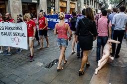 Manifestació per  l'alliberament LGTBI a Barcelona