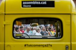 Les millors fotos de la setmana de Nació Digital «Via lliure al Món», tercer acte de la campanya d'estiu de l'ANC. </br> Foto: Adrià Costa