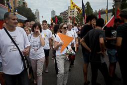 Diada Nacional 2015: manifestació de l'esquerra independentista