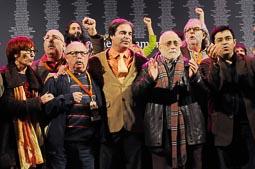 Acte «Justícia pels crims del franquisme» a la presó Model