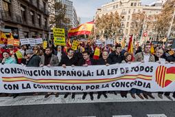 Manifestació del Dia de la Constitució a Barcelona