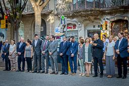 Diada Nacional 2016:  ofrena floral al monument de Rafael Casanova