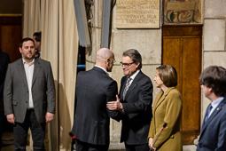 Presa de possessió dels consellers del govern de Carles Puigdemont