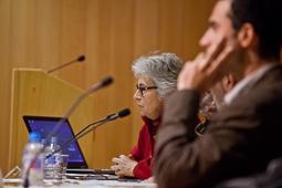Muriel Casals, tota una vida de lluita 27/02/2013. Muriel Casals, a la inauguració del cicle de debats «Catalunya cap a l'estat propi?» de la UVic. Foto: Adrià Costa.