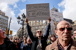 Marxa Europea pels Drets dels Refugiats a Barcelona