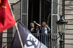 Tercer dia de vaga i manifestació d'estudiants a Barcelona Manifestació d'estudiants en contra del decret del 3+2 a Barcelona