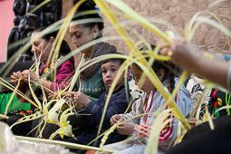 Les millors fotos de la setmana de Nació Digital <a href='http://www.naciodigital.cat/sabadell/noticia/5534/elaboracio/palma/tradicio/cinc/generacions/sabadell'>El col·lectiu gitano de Can Puiggener elabora artesanalment les palmes i palmons que es venen arreu del Vallès.</a>. </br> Foto: Juanma Pelaez