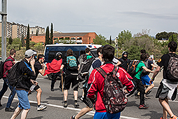 Marxa estudiantil de la UAB contra el 3+2 Càrrega policial dels Mossos d'Esquadra cap alguns estudiants durant la marxa