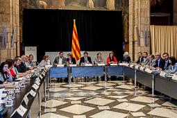 Cimera per fer front als desnonaments al Palau de la Generalitat