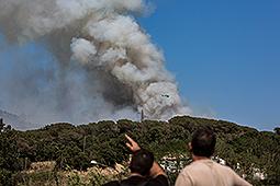 Incendi forestal a Blanes Incendi forestal declarat entre Blanes i Lloret de Mar.