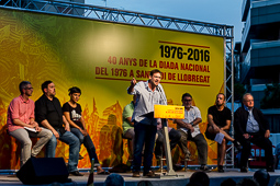 Commemoració dels 40 anys de la Diada Nacional del 1976 a Sant Boi de Llobregat