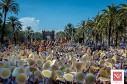 Les millors fotos de la setmana de Nació Digital Manifestació de la Diada a Barcelona. Foto: Josep M. Montaner