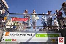 Les millors fotos de la setmana de Nació Digital Sabadell inaugura dues estacions de la xarxa dels Ferrocarrils de la Generalitat. Foto: Juanma Peláez
