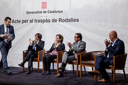 Acte per al traspàs de Rodalies