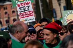 La Marxa Pagesa per la Dignitat a Barcelona
