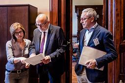 Lluís Corominas i Ramona Barrufet declaren al TSJC