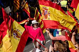 Manifestació per la unitat d'Espanya a Barcelona